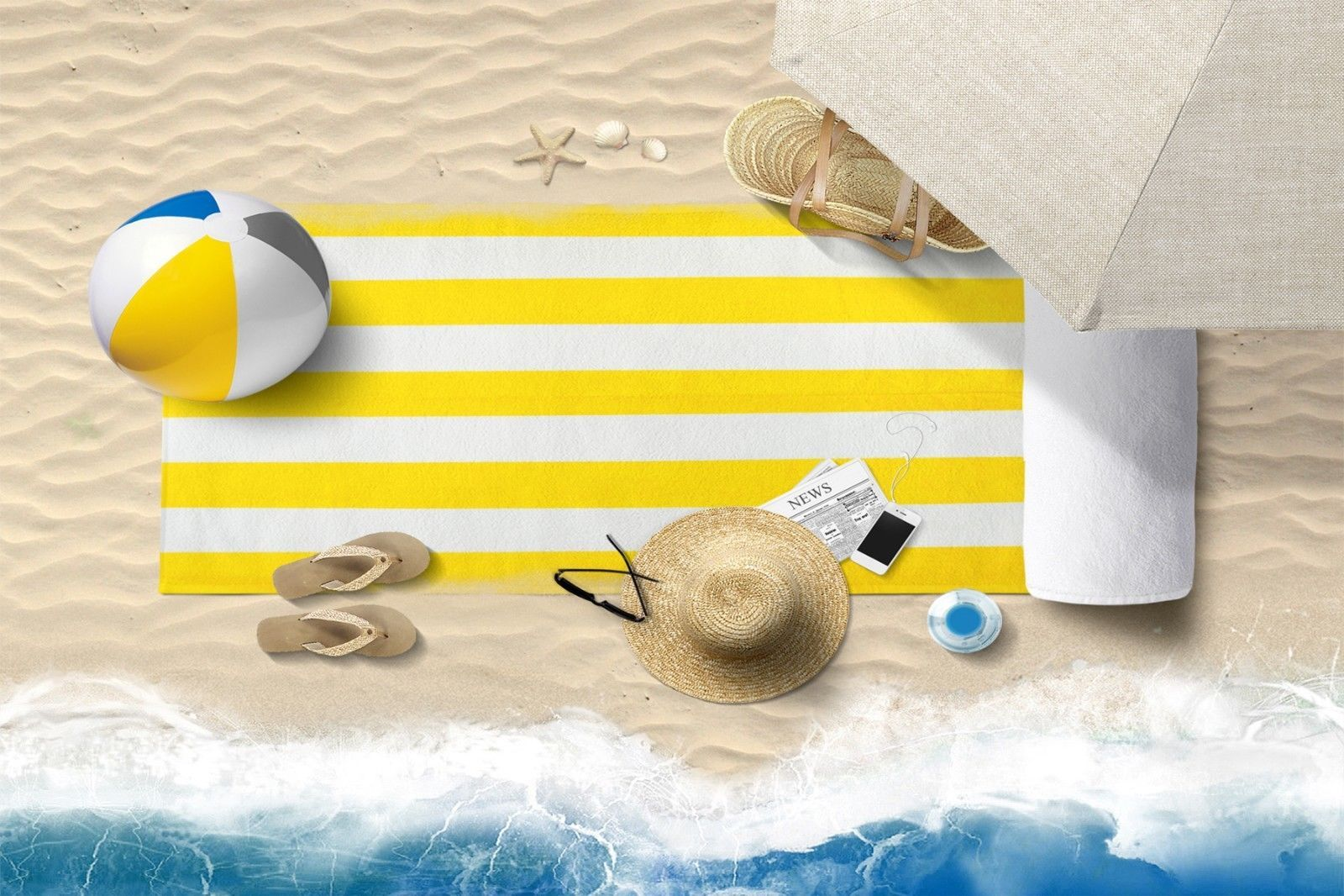 "X-Large (35""x 60"") CABANA STRIPE TOWEL Beach Pool Eco 100% Cotton MADE IN TURKEY"