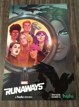 Marvel Comics RUNAWAYS NEW YORK COMIC CON 2019 EXCLUSIVE PROMO POSTER Hulu - $14.85
