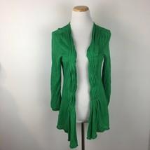 Moth Anthropologie Women's Green Open Front Cardigan Sweater Size medium  - $24.74
