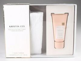 NEW Kristin Ess Frizz Reducing Towel Turban + Signature Shampoo Gift Set