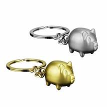 Pig Keychain Cute Cartoon Metal Pendant Car Key Ring Bag Hanging Decor M... - $8.05