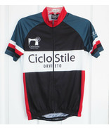 Pella CicloStile Cycling Jersey Size S Full Zip Short Sleeve Made in Italy - $37.83