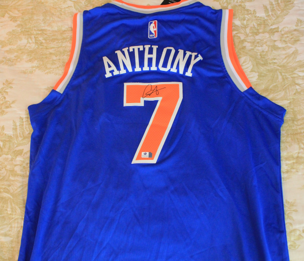 f4f3b8f1994a Img 6555173990 1535588701. Img 6555173990 1535588701. Previous. Carmelo  Anthony signed autographed NBA New York Knicks Jersey ...