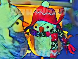 Digital download  snowman noel christmas santa claus Wallpaper Paint Wat... - $5.50