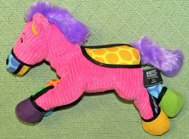"10"" POPPLUSH FRIDA Horse ENESCO Romero Britto Plush Stuffed Pink Ribbed ... - $18.70"