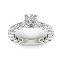 VVS1 Solitaire 2.16 Ct Diamond Engagement Ring Solid 14Carat White Gold ... - $306.89