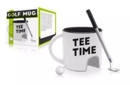 NPW Golf Mug Gift Set Tee Time Cup Club Pen Ball Coffee Tea Gift image 3