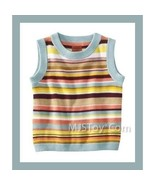NWT ❤ MISSONI Target SHELL Multicolor Striped Knit Sweater Vest Girl Sma... - $29.99