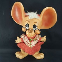 Big Ears Christmas Mouse Bank Doll Royalty Industries 1970 Vintage Roy Des - $29.69