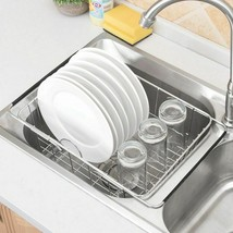 Stainless Steel Kitchen Storage Basket Drain Holder Fruit Rustproof Bowl... - $32.62