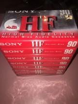 8 Sony 90 Minuten Leere Audio Kassette Bändern HF Hi-Fi - $12.60