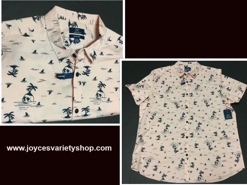 Pink tropical george shirt xl web collage