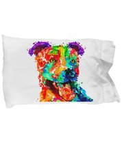 Colorful pillow case - Pit Bull Lover Gifts - $14.65