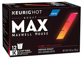 Maxwell House Max Boost Coffee K-Cups 3 Boxes of 12 36 Total 1.75 X More... - $45.30