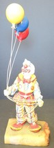 Vintage Ron Lee Clown Holding Three Balloons Signed Ron '81 - $24.93