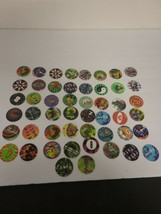 Vintage 90's Lot of 50 Random Pogs - Exactly What is Shown- Lots of Rare... - $15.29