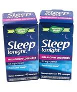 2x Melatonin Nature's Way Sleep Tonight Lozenges 2.5mg Potency 180 Lozenges  - $16.82