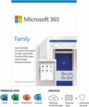 Microsoft Office 365 Family - Latest Version - 6 Users - 1 Year - Download - $74.69