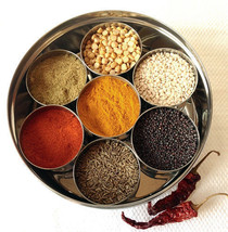 Masala Box 7 authentic New Steel Masala Dabba Indian Spice Spice Box Sto... - $19.57