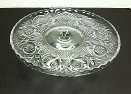 EAPG BRYCE WALKER US GLASS BUCKLE WITH STAR PATTERN CAKE STAND - $34.64