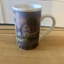 Thomas Kinkade Cup Mug Victorian Light Lighthouse Beach Shore Ocean Coff... - $9.67