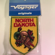 Vintage Retro Voyager Embroidered Patch North Dakota Indian Pow Wow - $10.58