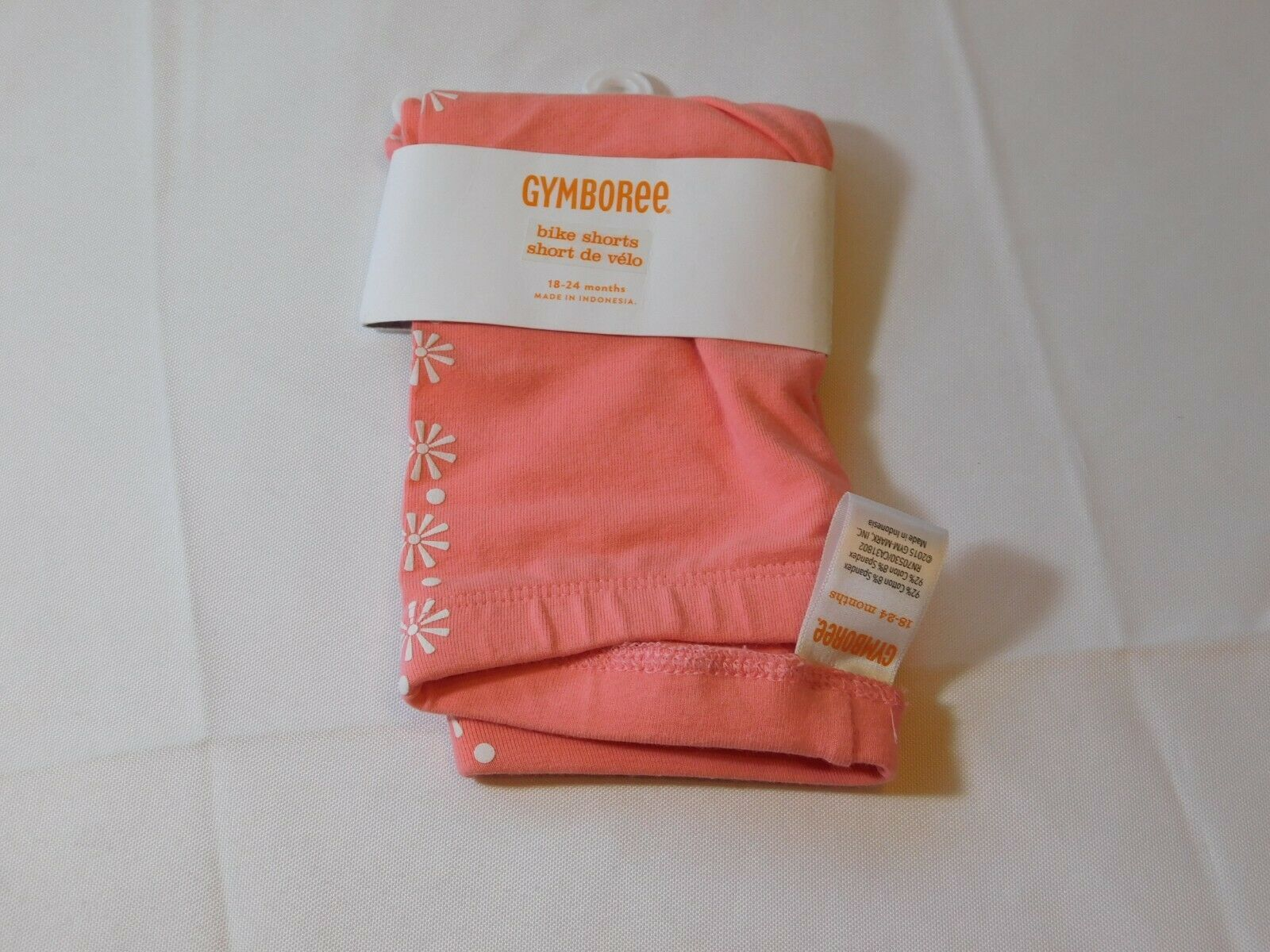 Primary image for Gymboree Baby Girl's Bike Shorts 18-24 Months 15GYMaySM3 coral white NWT