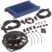 """AN10 Universal 13 Row Engine Trust Oil Cooler Kit & 7"""" Electric Cooling ... - $83.01"""