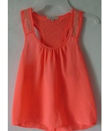 Women's Charlotte Russe Sleeveless Blouse Top Orange Size XS - $7.69