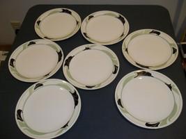 "Seven Mid-Century Modern Corning Corelle Black Orchid Dinner Plate 10 1/4"" - $39.59"