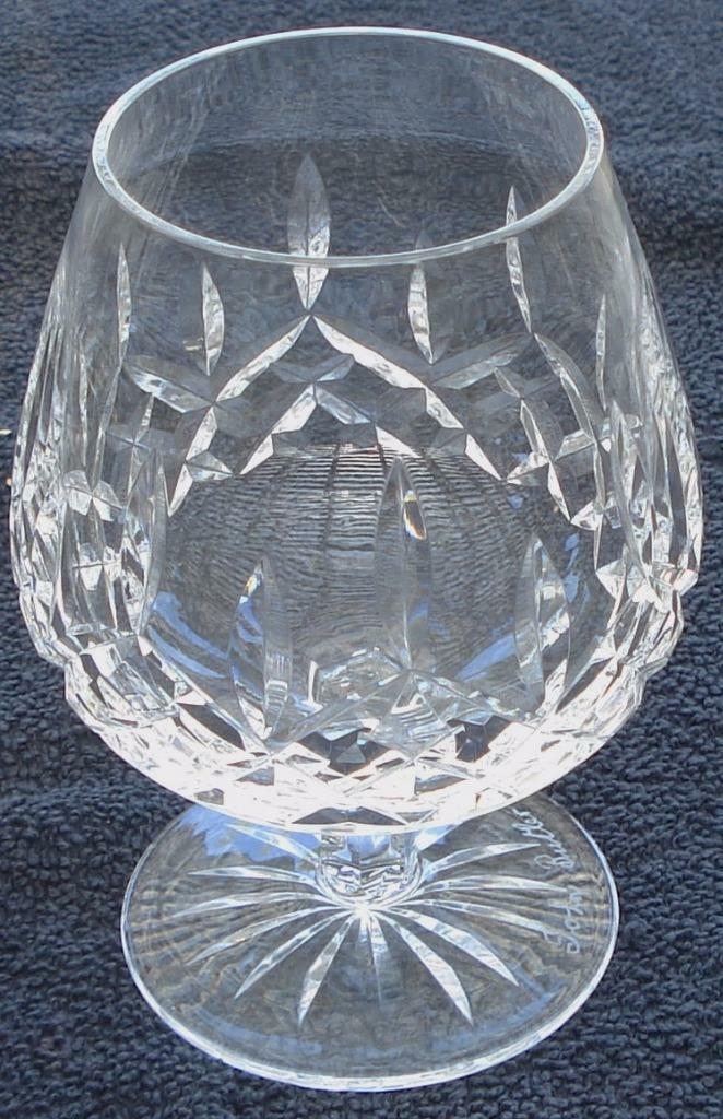 "Primary image for Waterford Crystal Signed Lismore 5"" Brandy - Cut Crystal - VGC - GREAT PIECE"
