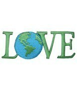 "Love Applique Patch - Planet, Earth Day, Environmental Badge 2-5/8"" (Iro... - $2.75"