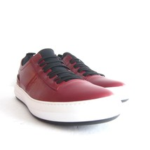 P-295239 New Salvatore Ferragamo Red Leather Sneaker Shoes Size US 12D M... - $324.65