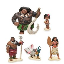 5pcs Princess Moana Maui Heihei Waialik Chief Tui PVC Action Figure Set - $17.75