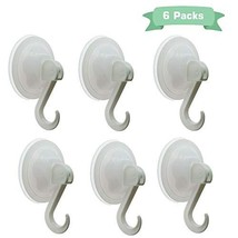 ZARES Suction Cup Hooks,6 Packs Heavy Duty Hooks for Bathroom&Kitchen,2.8 Inch S