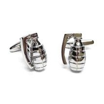 silver ww2 mills grenade design Cufflinks , cuff links in gift box ww11 mills de