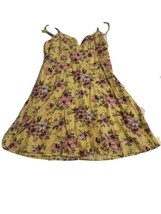 Forever 21 Ivory Floral adjustable fit and flare cute dress Size Medium ... - $12.73