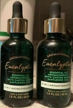 2 Bath & Body Works Eucalyptus Huile Essentielle 3 in 1 Aromathérapie Pe... - $23.68
