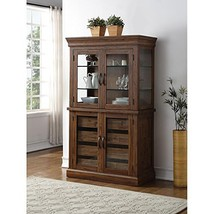 HEFX Nuremberg Rustic Country Curio Cabinet in Vintage Distressed Wood F... - €1.337,81 EUR