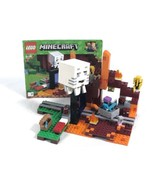 Lego Minecraft The Nether Portal (21143) 100% Complete w/ Minifigs & Boo... - $58.79