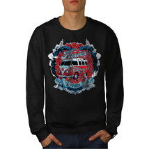 Flower Power Hippy Jumper Camper Van Men Sweatshirt - $18.99+