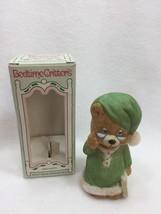 Vintage jasco Bedtime Critters Porcelain Bell Christmas Xmas Taiwan 2519... - $14.80