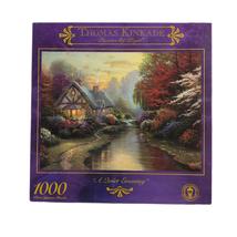 Thomas Kinkade Painter of Light A quiet Evening Jigsaw Puzzle 1000 Piece Sealed - $24.99