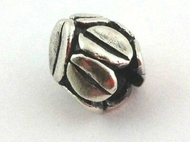 Authentic Trollbeads Sterling Silver Mocha Bead Charm 11154, New - $21.85