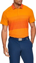 Under Armour UA Iso-Chill Power Play LG Hero Orange - Polo Short - $84.99