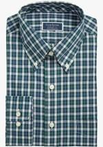 Club Room Men's Regular Fit Stretch Plaid Dress Shirt 17 1/2  32/33 SEALED!!!!! image 1