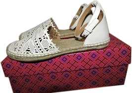 Tory Burch  Ivory Clarisse Espadrille Flats Sandals Loafer Espadrille 7.5 - $168.00