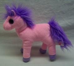"TY LARGE EYED PINK & PURPLE CHARMING UNICORN 7"" Plush Stuffed Animal TOY - $14.85"