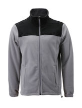 Men's Full Zip-Up Two Tone Solid Warm Polar Fleece Soft Collared Sweater Jacket image 14