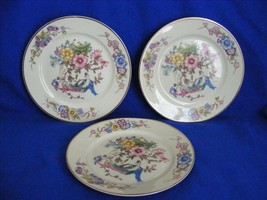 """Rosenthal Phoenix 3 Bread Plates 6"""" Gold Very Good Condition - $19.95"""